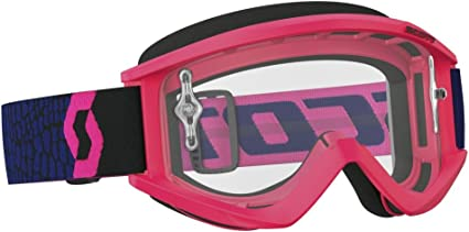 Scott Sports USA Unisex-Adult Recoil Xi Goggles Blue//Fluorescent Pink//Clear Works, One Size
