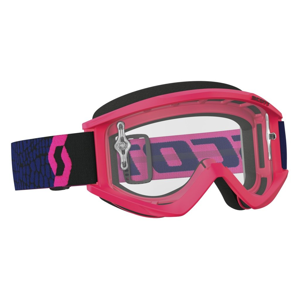 Scott Sports USA Unisex-Adult Recoil Xi Goggles (Blue/Fluorescent Pink/ Clear Works, One Size) by Scott Sports USA