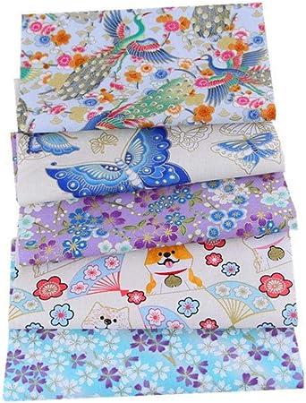 Cedarfiny - Tela de algodón, diseño de patchwork, tela de algodón, 5 unidades: Amazon.es: Hogar