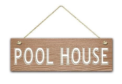 Amazon.com: Casa de la piscina, señal de 5.5