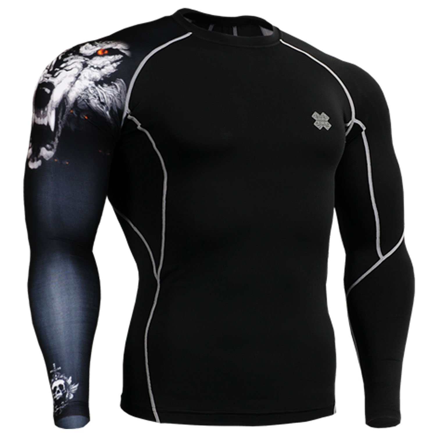 Fixgear Running under compression body armour base layer shirt long sleeve for men