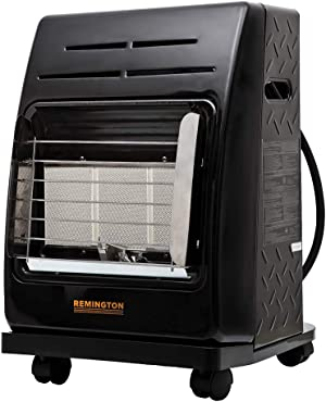 This Heater is great for camping, ice fishing, tailgating, or workshops. Exclusive safety tip-over switch, oxygen depletion sensor.
