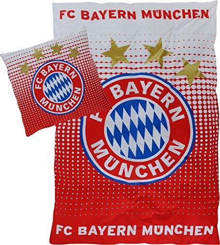 FC Bayern 17268 FC Bayern Müchen Bettwäsche Logo Übergröße