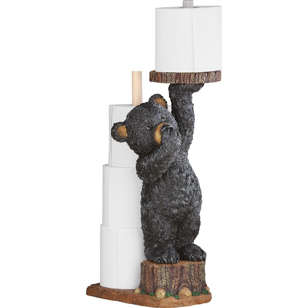 Northwoods Bear Bathroom Toilet Paper Holder Winston Brands
