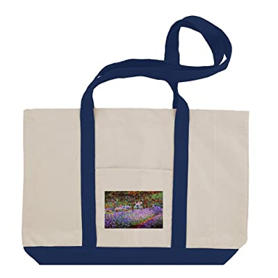Garden In Giverny (Monet) Cotton Canvas Boat Tote Bag Tote