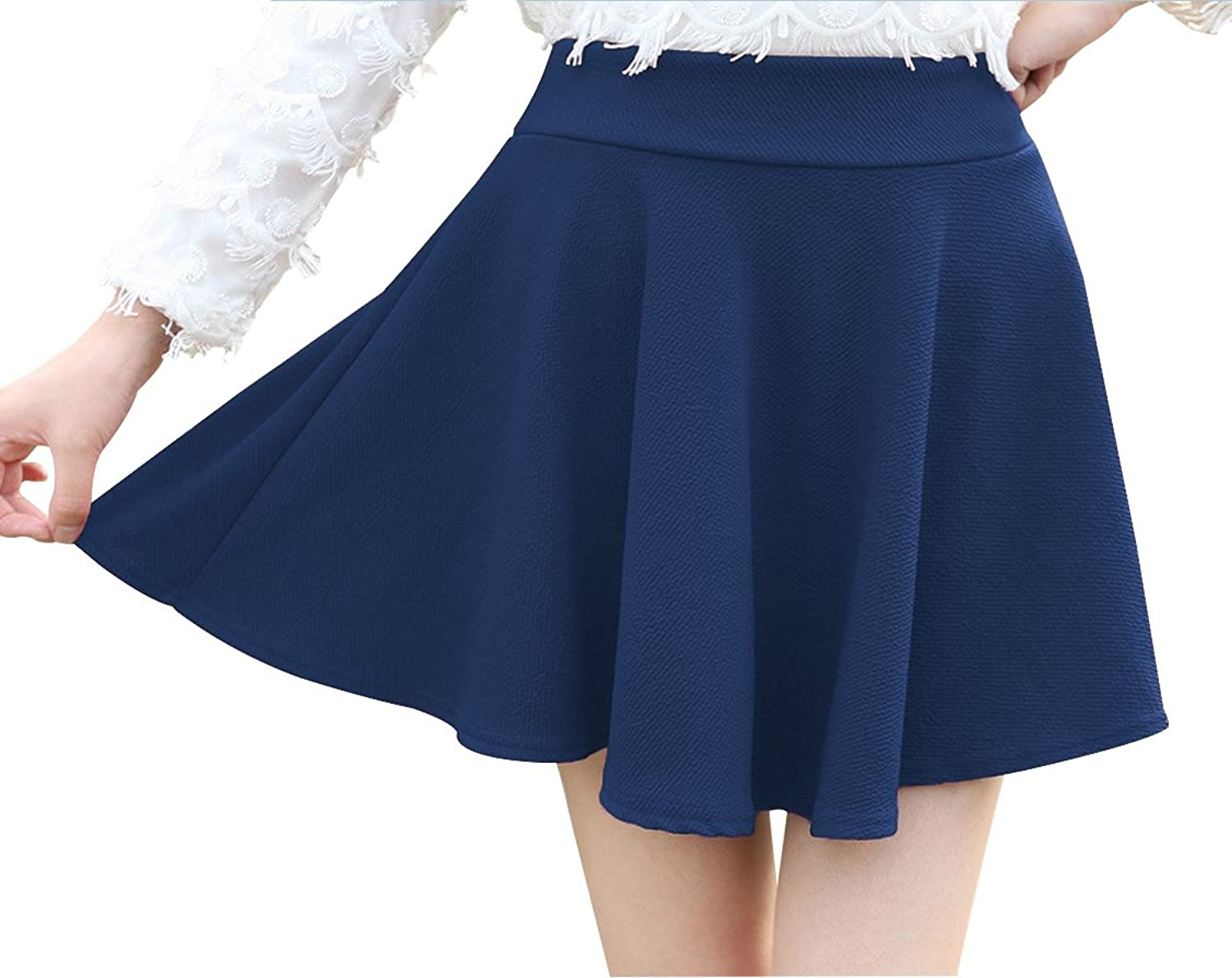 Affordable Women's Teen Girl's Basic Mini A Line Stretchy Skirt for Parties or Halloween