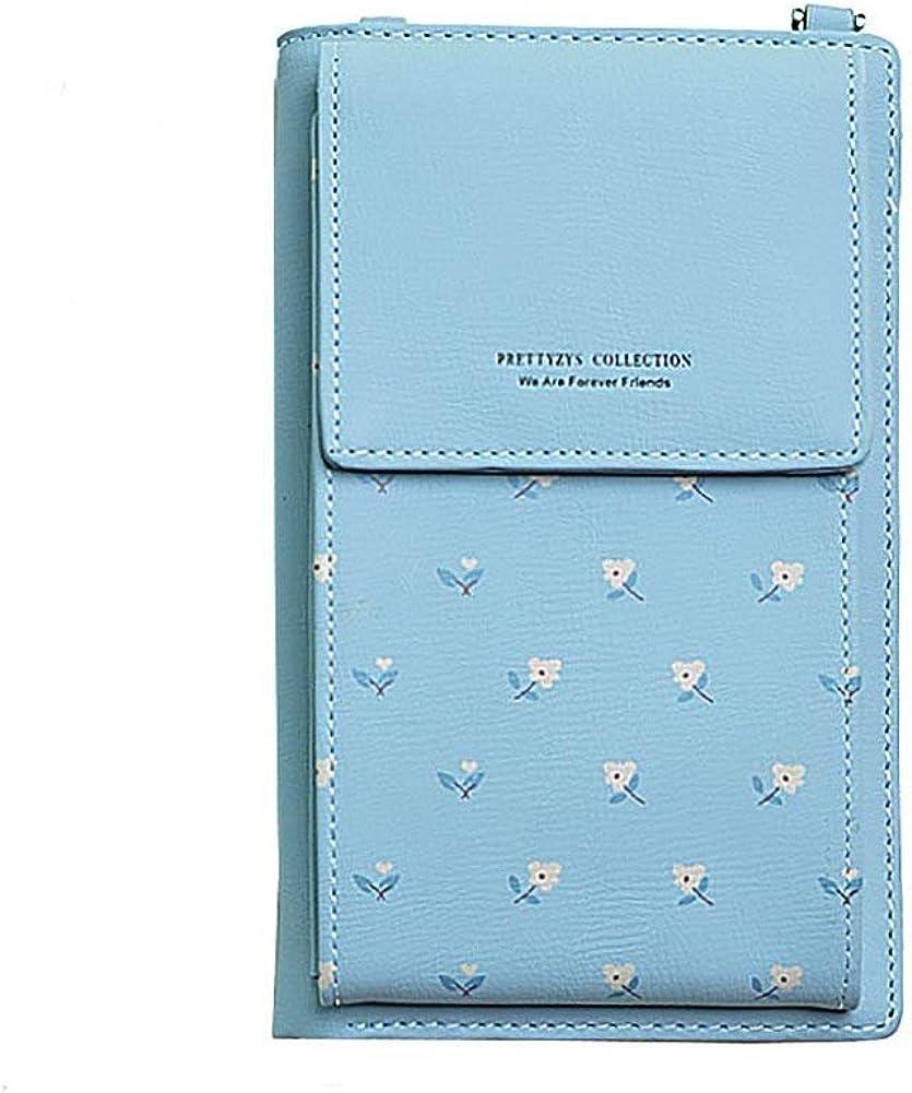 HMILYDYK Mujeres Monedero a través del cuerpo del bolso de cuero monedero Monedero Teléfono Mini Portatarjetas Bolso de la cartera del hombro