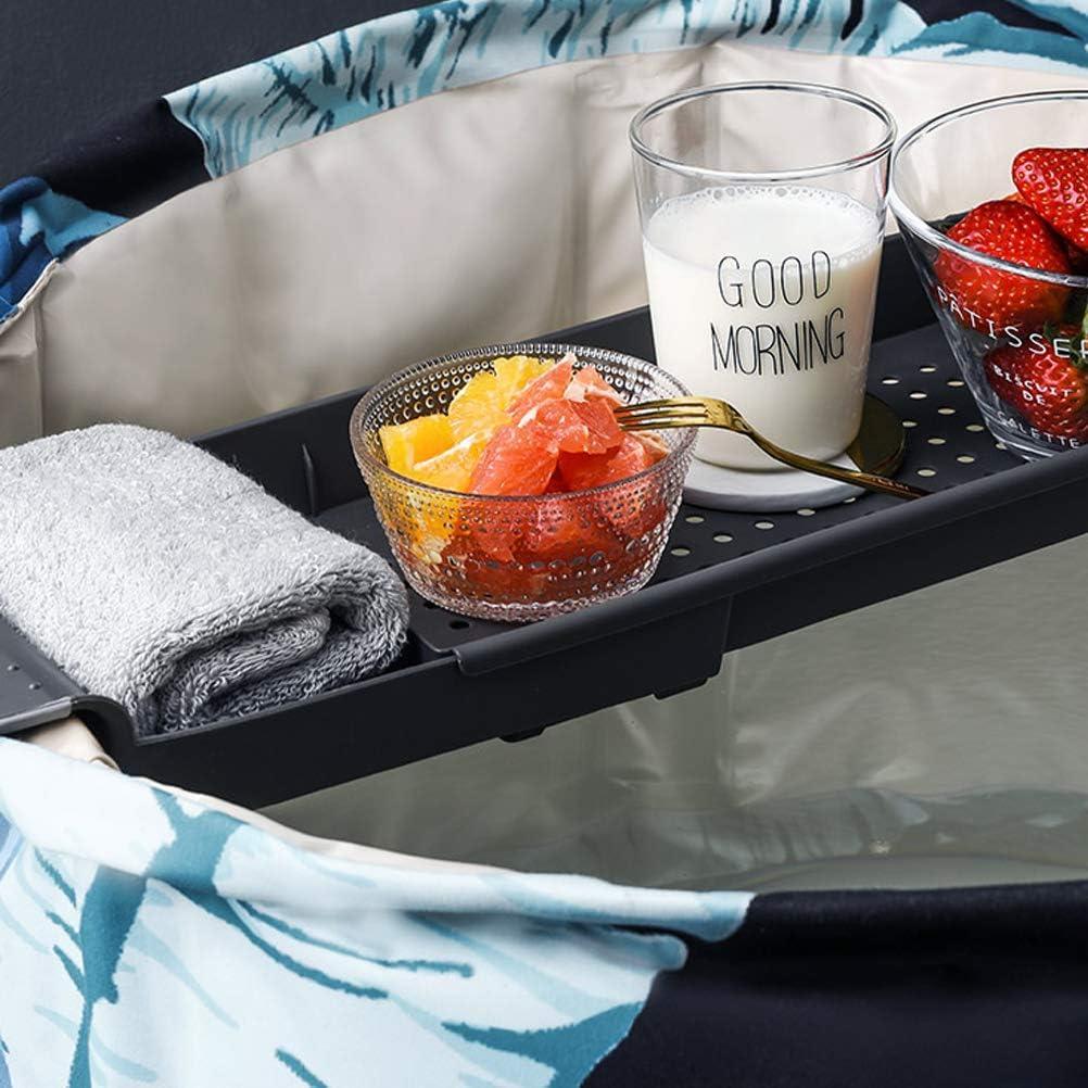 CaCaCook Badewannen ablagen verstellbare Badewanne Tablett,Wei/ß Caddy Badewanneneinsatz Ausziehbare Badewannenablage,Badetisch f/ür Buchrahmen pr/äsentierbares Geschenk Weinglashalter