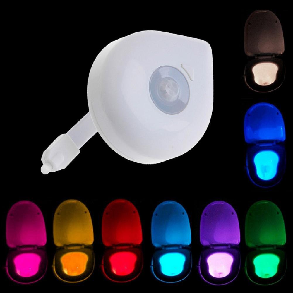 liyudlカラフルMotion Activatedトイレ夜ライト、バスルームHumanボディモーションセンサー自動Seatライト夜ランプ8-color変更 B0712152MX