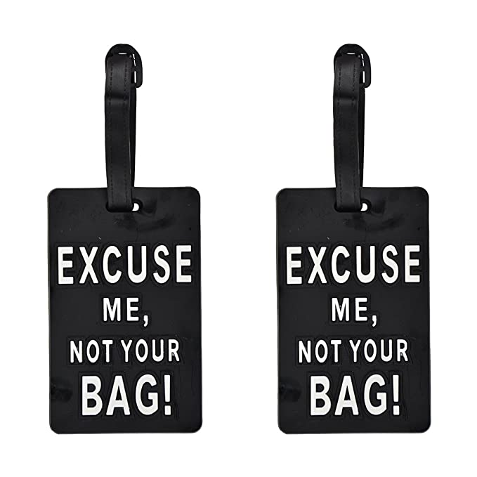 237de758a7fb Luggage Tag Humor ID Holder for Suitcases - 2 Pack
