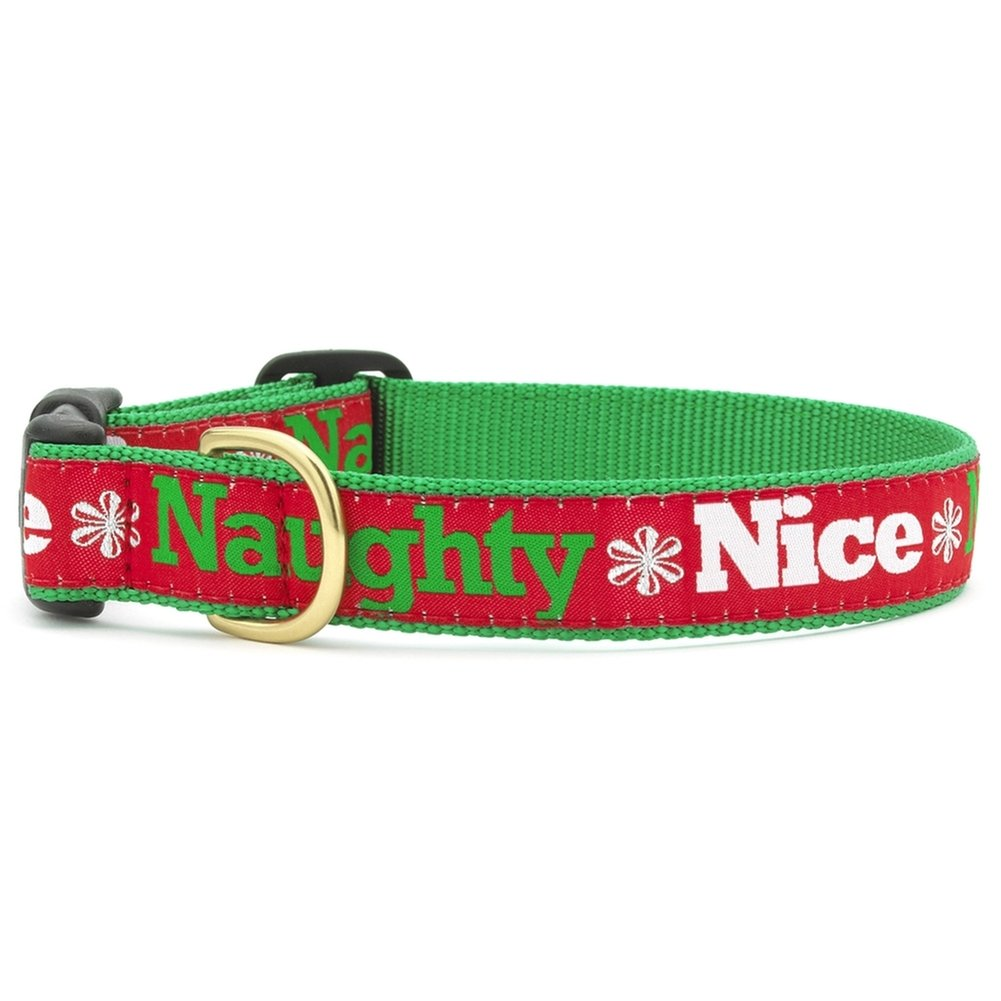 Dog Collars for the Holidays Made in USA by Up Country (Naughty and Nice, Small) by Up Country