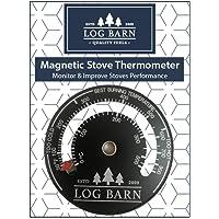 Log-Barn magnetische houtkachel en kachel thermometer voor kachels oppervlak en rookpijp. Best brandende temperatuur…