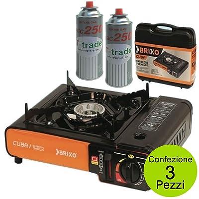 Multipack 2bouteilles gaz plus Réchaud barbecue Brixo modèle cuba jy-500a