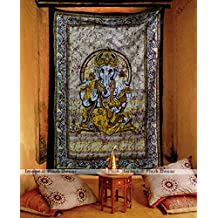 Large Ganesha Tapestries Lord Ganesh Tapestry Hippie Mandala Indian Traditional Handmade Hippy Wall Hanging College Dorm Bohemian Art
