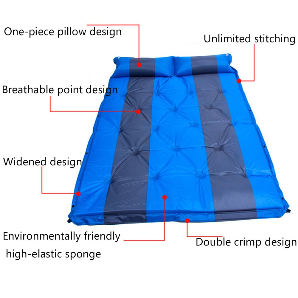 QEL Automatische Kissen aufblasbares Kissen Automatische Erweitert Design Kissen und Matratzen 2-in-1-Outdoor Camping Company 190  132  3 cm f8934d