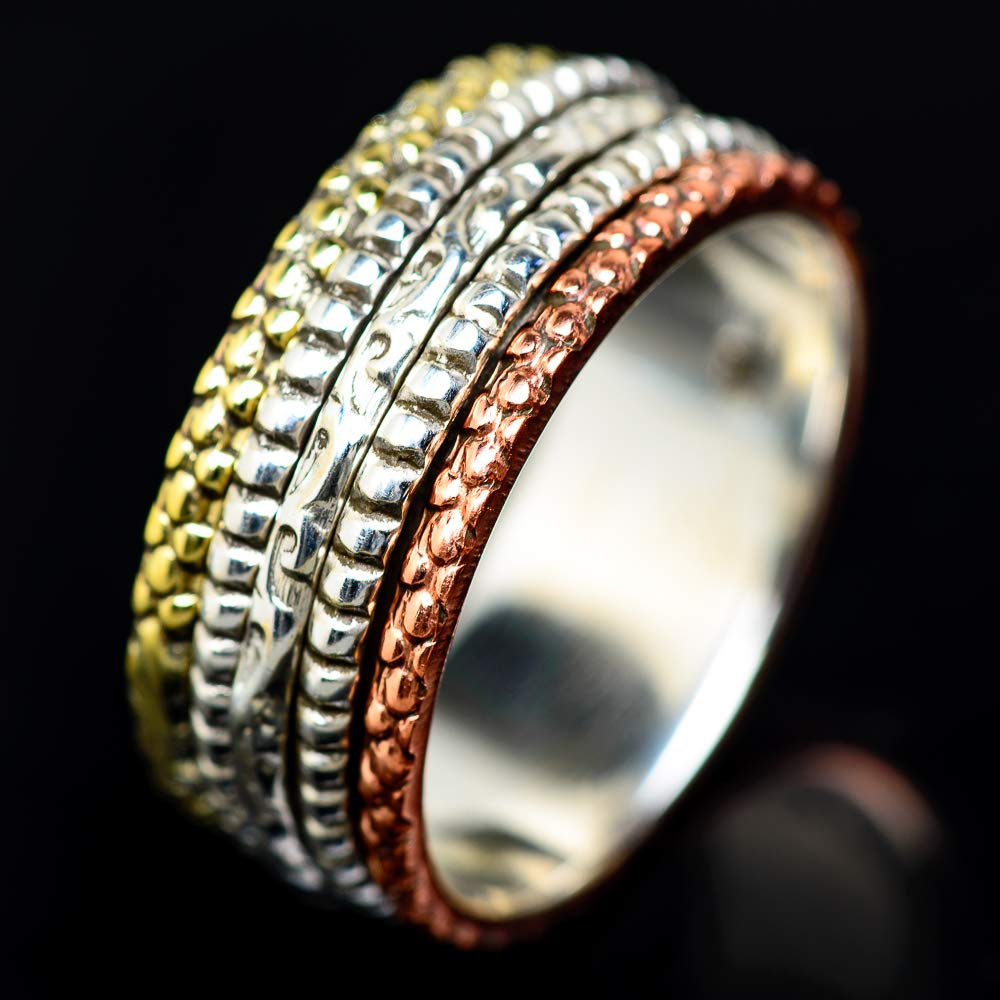 - Handmade Jewelry Ana Silver Co Meditation Spinner Ring Size 11.75 Vintage RING939626 925 Sterling Silver Bohemian