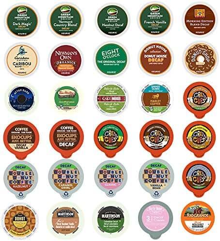 Decaf Coffee Variety Sampler Pack for Keurig K-Cup Brewers, 30 Count