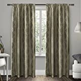 Exclusive Home Curtains Como Rod Pocket Window Curtain Panel Pair, Stone, 54×96 Review