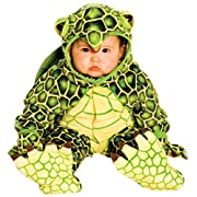 Underwraps Costumes Baby's Turtle Costume Jumpsuit, Green/ Yellow, Small (6-12 Months)
