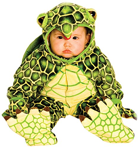 Turtle Infant Costumes (Underwraps Costumes Baby's Turtle Costume Jumpsuit, Green/ Yellow, Large (2T-4T))