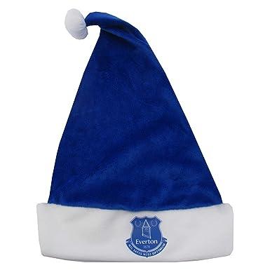 Everton Christmas Santa Hat (One Size) (Blue White)  Amazon.co.uk  Clothing 63a24f222
