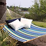Pawley's Island QBE01 Quilted Fabric Hammock, Beaches Stripe, Large