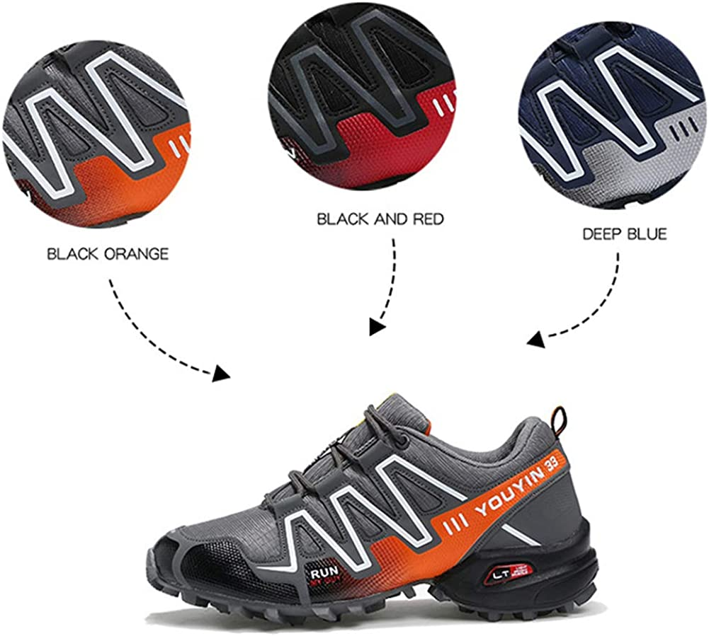 Hiking Shoes Mens mesh Sports Off-Road Outdoor shoes-black-44