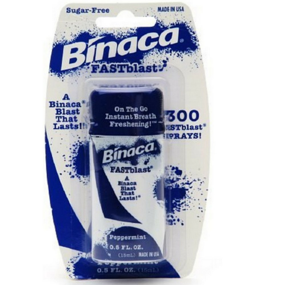 Binaca Fast Blast Breath Spray PepperMint 0.50 oz