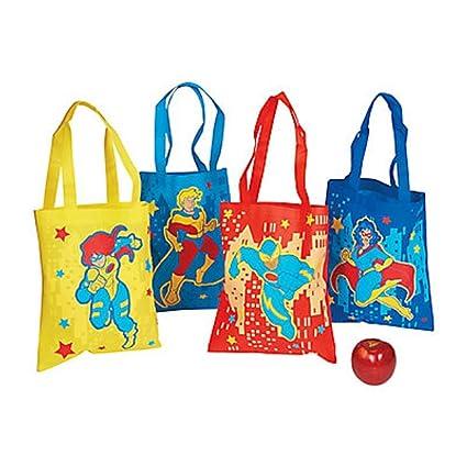 Amazon.com: 12 ~ superhéroe bolsa Bolsas/bolsas de regalo ...