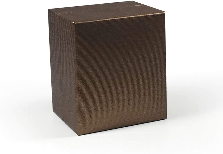 ROMQUEEN Caja de Collar Caja de Pendientes Niña Puesto de Joyas,Collar Caja Marrón(8.1 * 7): Amazon.es: Joyería