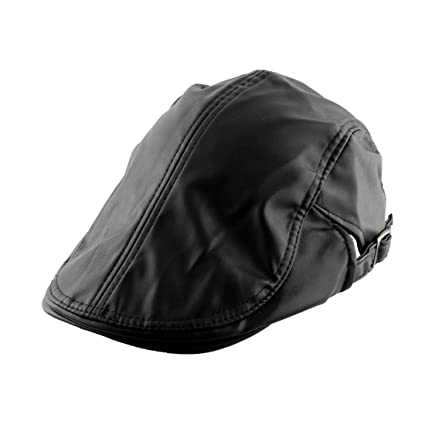862afd95a9c uxcell Men Women PU Leather Vintage Style Newsboy Duckbill Ivy Cap Cabbie  Driving Golf Casual Flat