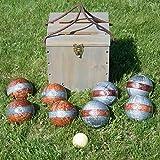 Bocce Set Game Sport Equipment 113mm Balls Case 10 Piece Tournament Backyard Fun