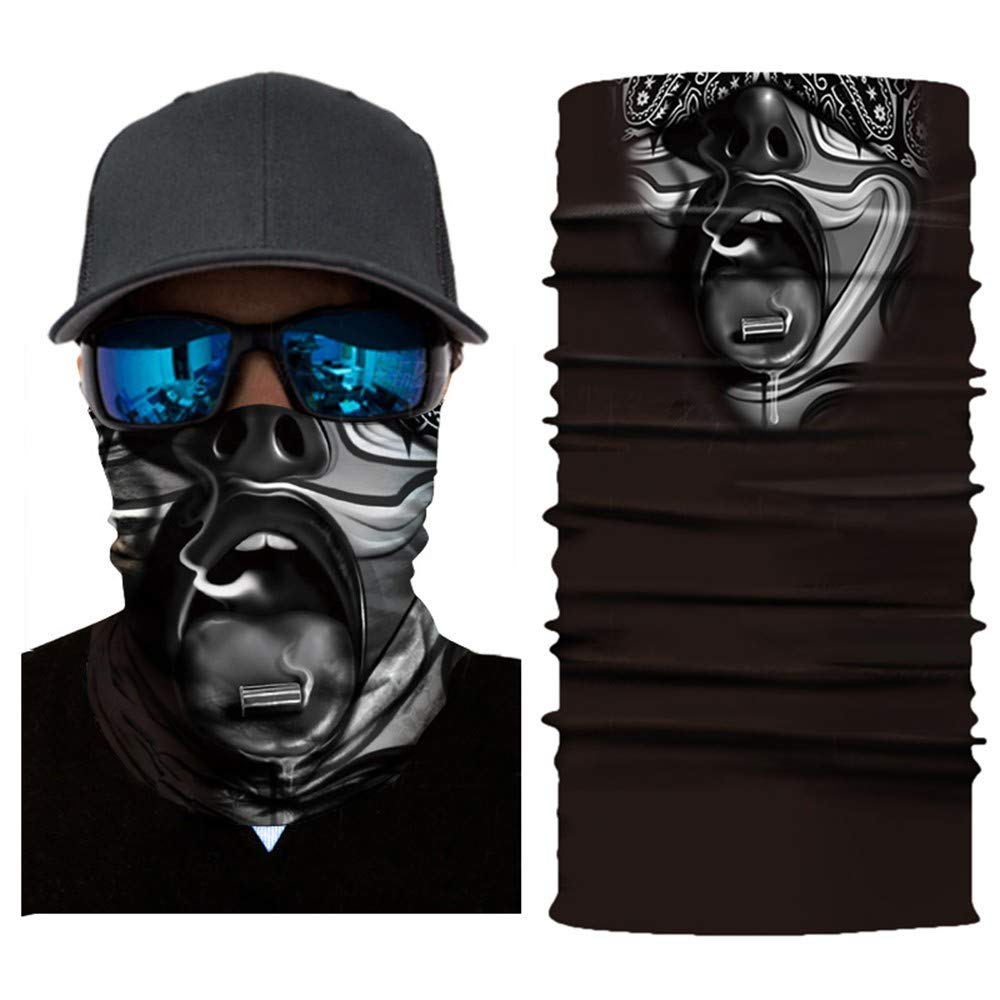 CapsA Novelty Bandanas for Men Women Face Shield for Music Festivals Dust Protection Variety Magic Face Mask for Riding Outdoors Cycling Motorcycle Head Scarf Neck Balaclava Headband Halloween