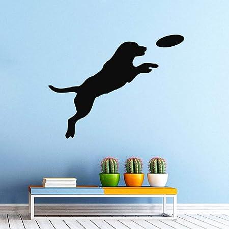 Perro jugar pelota PVC pegatinas de pared tienda de mascotas salón ...