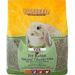 Sunseed Company 36143 1 Piece Vita Sunscription Timothy Pet Rabbit Food Treat, 5 Lb