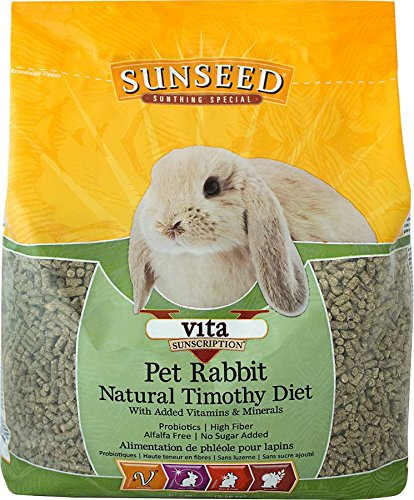 Sunseed Company 36143 1 Piece Vita Sunscription Timothy Pet Rabbit Food Treat, 5 ()