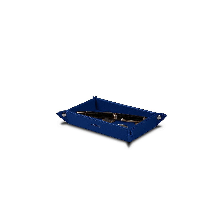 Lucrin - Funda pequeña rectangular - Azul marino - Cuero Liso Lucrin Marroquinería