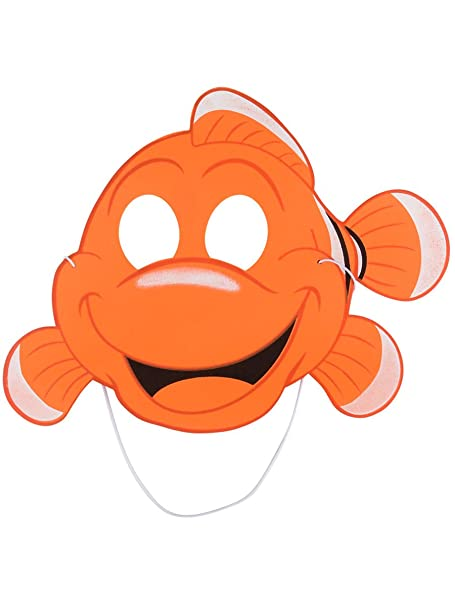 Amazon.com: Rhode Island Novelty 12 Childs Orange Clown Fish Cartoon Foam Mask Nemo Party Costume Accessory: Clothing
