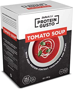 BioTech Tomato Soup Mezcla de Proteínas, Sabor Tomate - 30 gr ...