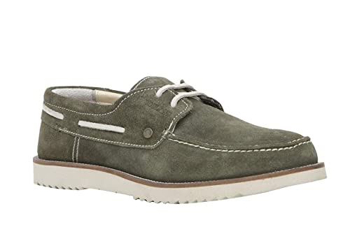 Olive Green Leather Casual Shoes