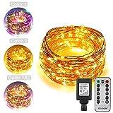 Best Outside Plug In Lights - ErChen Dual-Color LED String Lights, 100 FT 300 Review