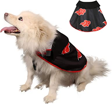 Impoosy Pet Dog Costume Cloak Cat Anime Hoodies Cute Cosplay Cape for Small to Large Dogs Cats Clorhes