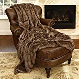 Ben and Jonah Coyote Faux Fur Throw Blanket (60'' x 58'')