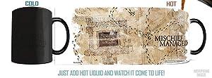 Morphing Mugs Harry Potter Hogwarts Marauders Map Heat Reveal Ceramic Coffee Mug - 11 Ounces