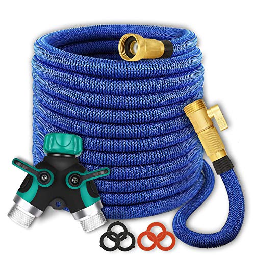 maswater Garden Hose 50FT Expandable Water Hose - Upgraded 2019 2-Way Splitter with Double Latex Core