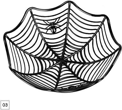 Halloween Candy Basket Spider Web Bowl Kitchen Spider Fruits Web Party Decor