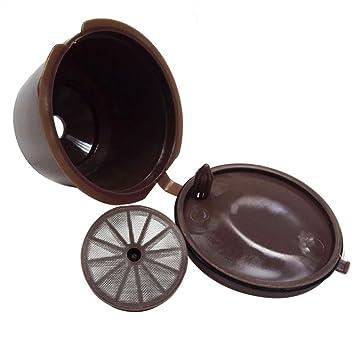 STRIR Cápsulas Filtros de café recargable reutilizable con Presión Aumendada para cafetera Dolce Gusto vida útil más de 150 (Marrón): Amazon.es: Hogar