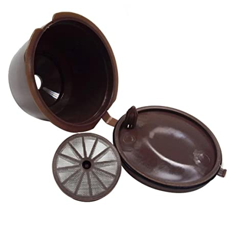 STRIR Cápsulas Filtros de café recargable reutilizable con Presión Aumendada para cafetera Dolce Gusto vida útil más de 150 (Marrón)