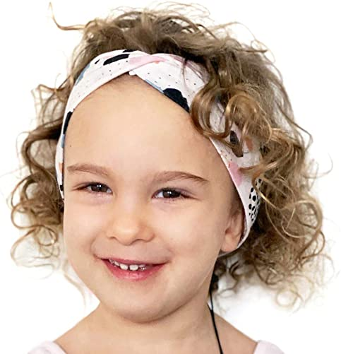 Little Crowns NYC Premium Kids Headphones Headband Volume Limited – Comfortable Super Flexible Lycra – Ultra-Thin Speakers for Toddlers Children for Traveling, School, Home Knotted
