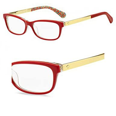0b05c9df32 Image Unavailable. Image not available for. Color  Eyeglasses Kate Spade  Jessalyn 0XSU Red Palladium Transparent Green